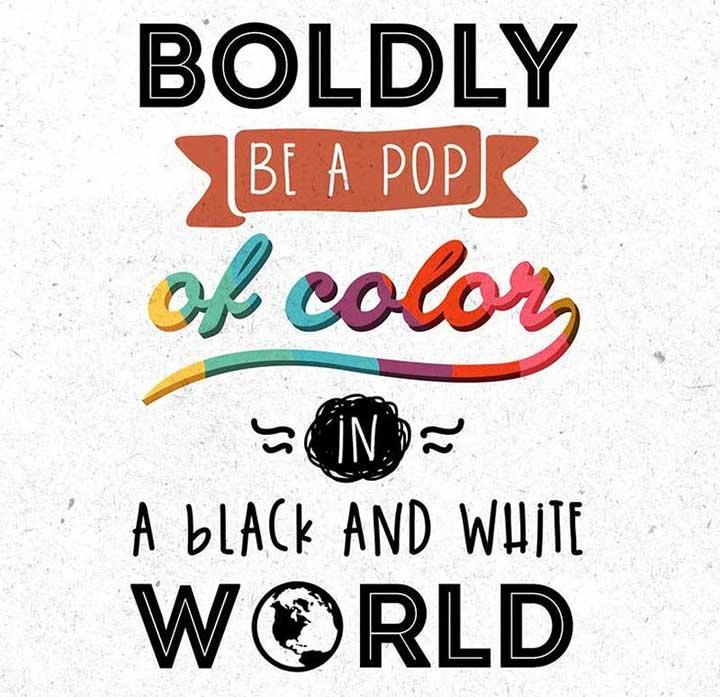 color black white world
