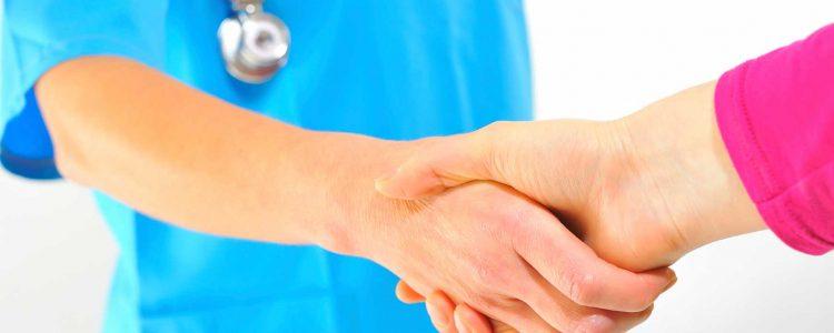 handshake nurse relationship