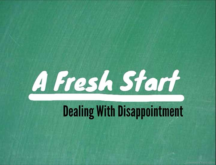 dealing with disappointment overcome manage