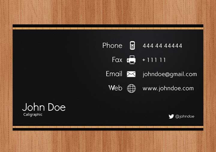 business card questions
