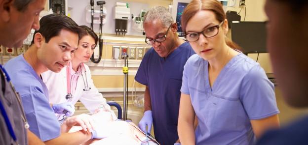 ER nurses and docs around patient