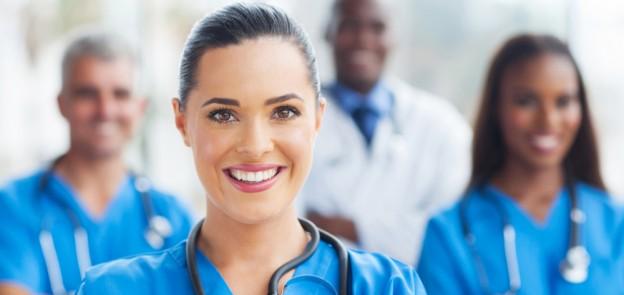 bright-eyed nurse team