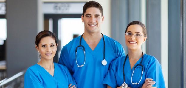 confident nurse team