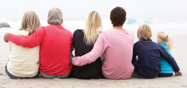 family on the beach caregiver support