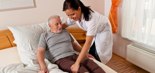 old man patient transfer