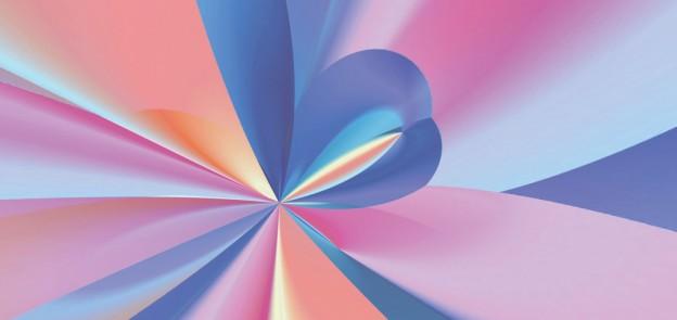 pretty abstract rainbow swirl