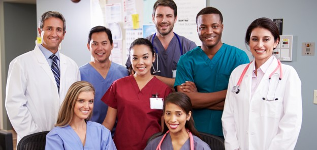 varied nurses and doctors