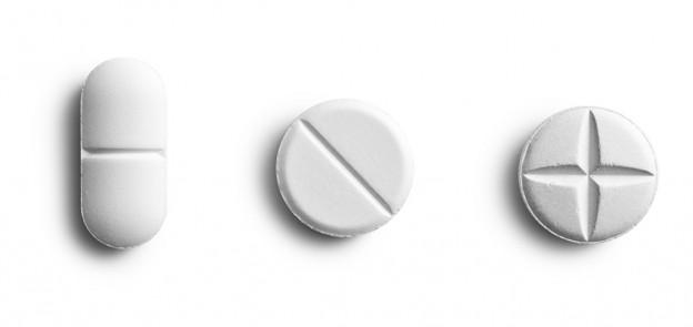 white pills white background