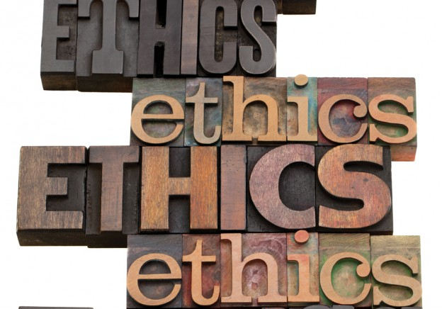 wooden ethics signs