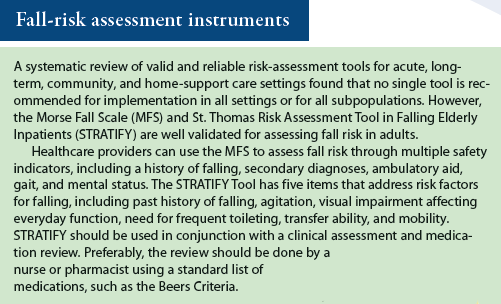 Fall-risk assessment instruments