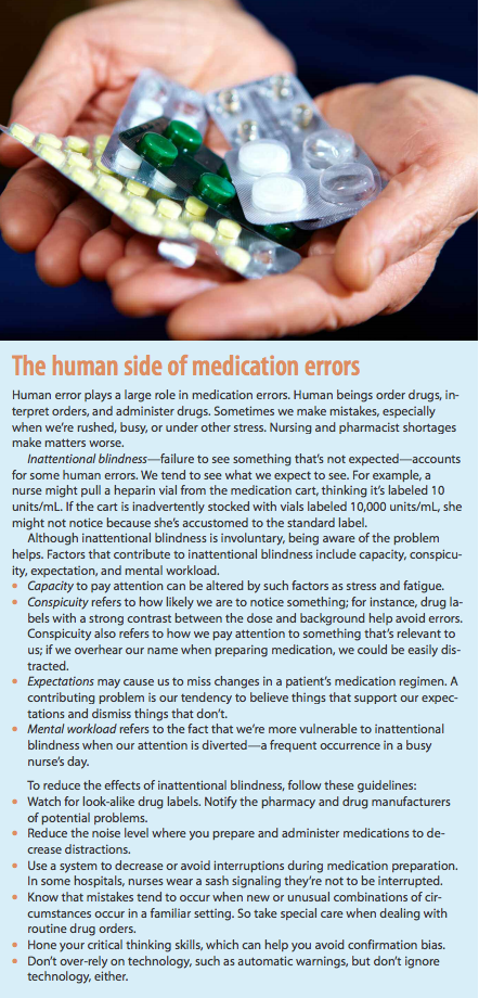 study on medication errors causes and prevention Medication safety is important adverse drug events are harms resulting from the use of medication and include allergic reactions, side effects, overmedication, and medication errors adverse drug events are a serious public health problem.