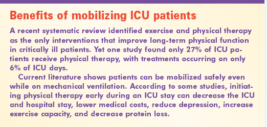 Benefits of mobilizing ICU patients