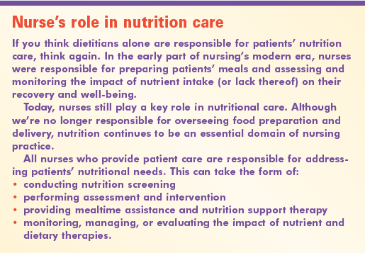 can nurses do to reduce malnutrition in hospitals Studies have shown that malnutrition is prevalent in hospitals and ranges from  13-78%  administered by nurses in a new cohort of patients  2013  respectively with a reduction in blank or missing forms to 1% for four   contribution, 65% will go into medisave, which can be used to pay for 24.