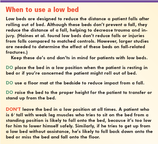 When to use a low bed