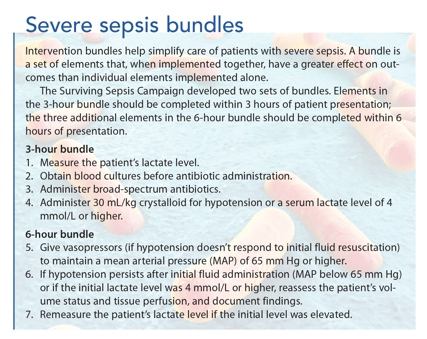 Nurses Can Help Improve Outcomes In Severe Sepsis