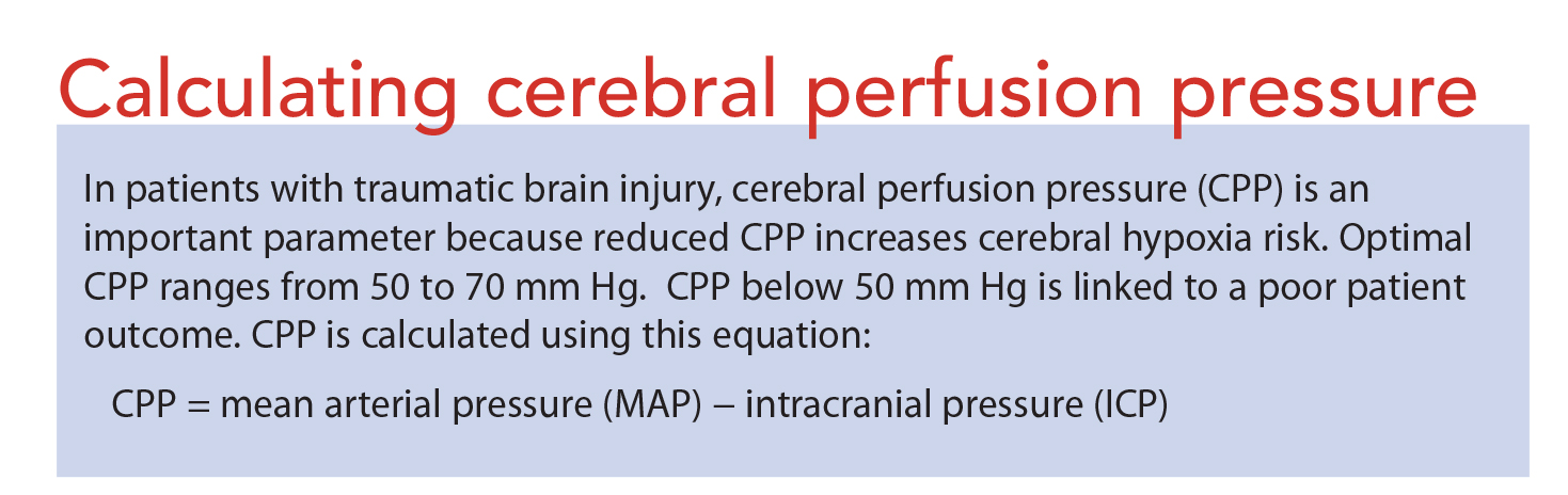 Reducing intracranial pressure in patients with traumatic