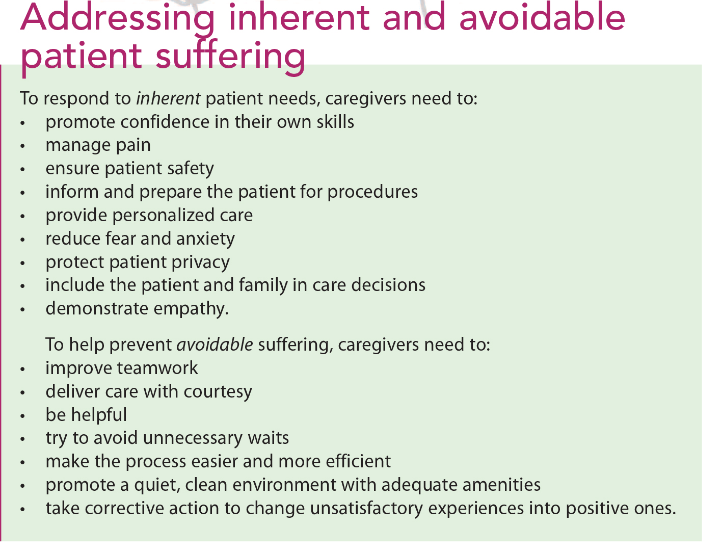 addressing patient and caregiver suffering american nurse today