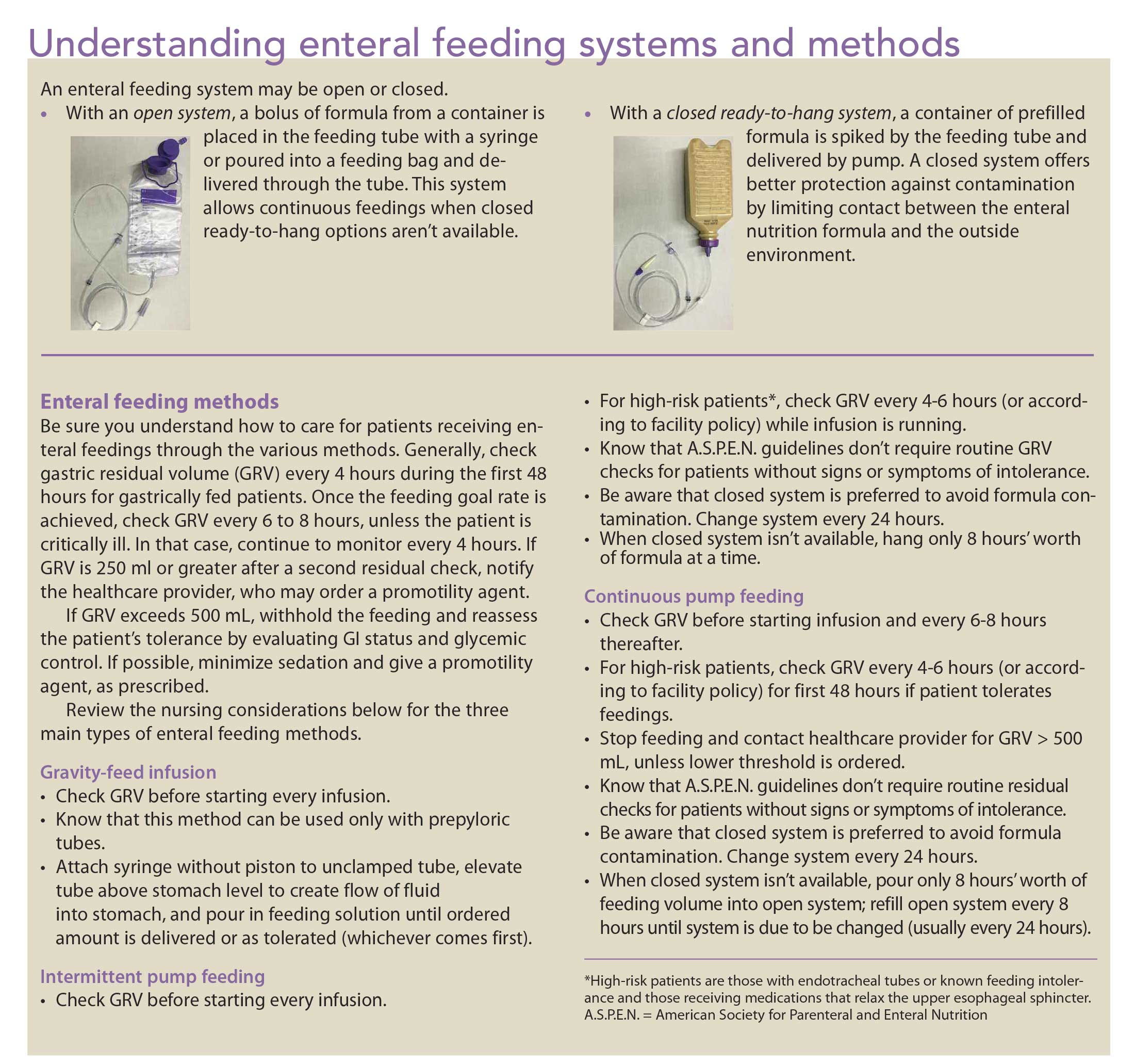 Enteral feeding: Indications, complications, and nursing