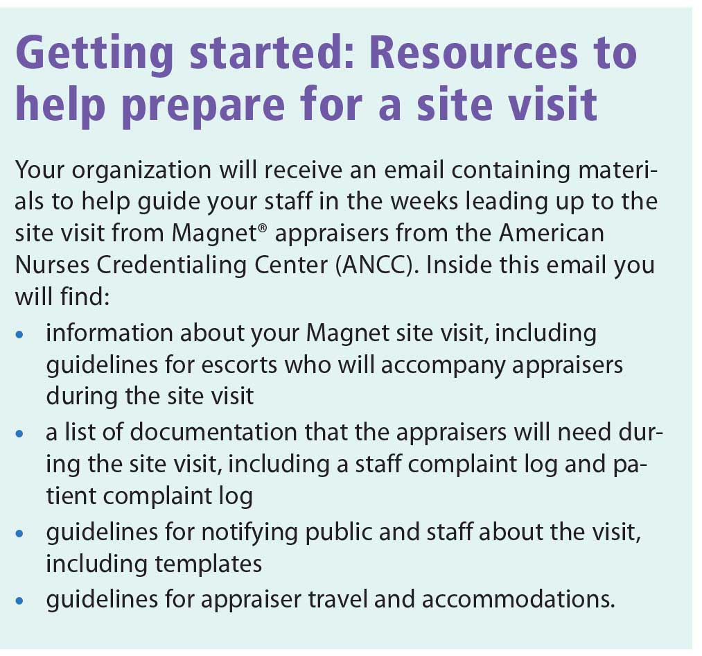 How to plan a successful Magnet® site visit - American Nurse Today
