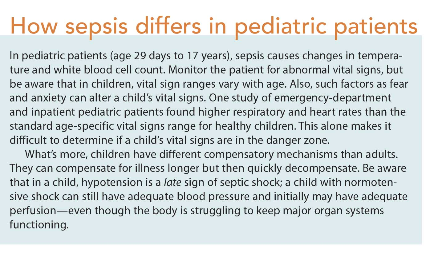 How To Recognize And Intervene For Pediatric Sepsis American Nurse