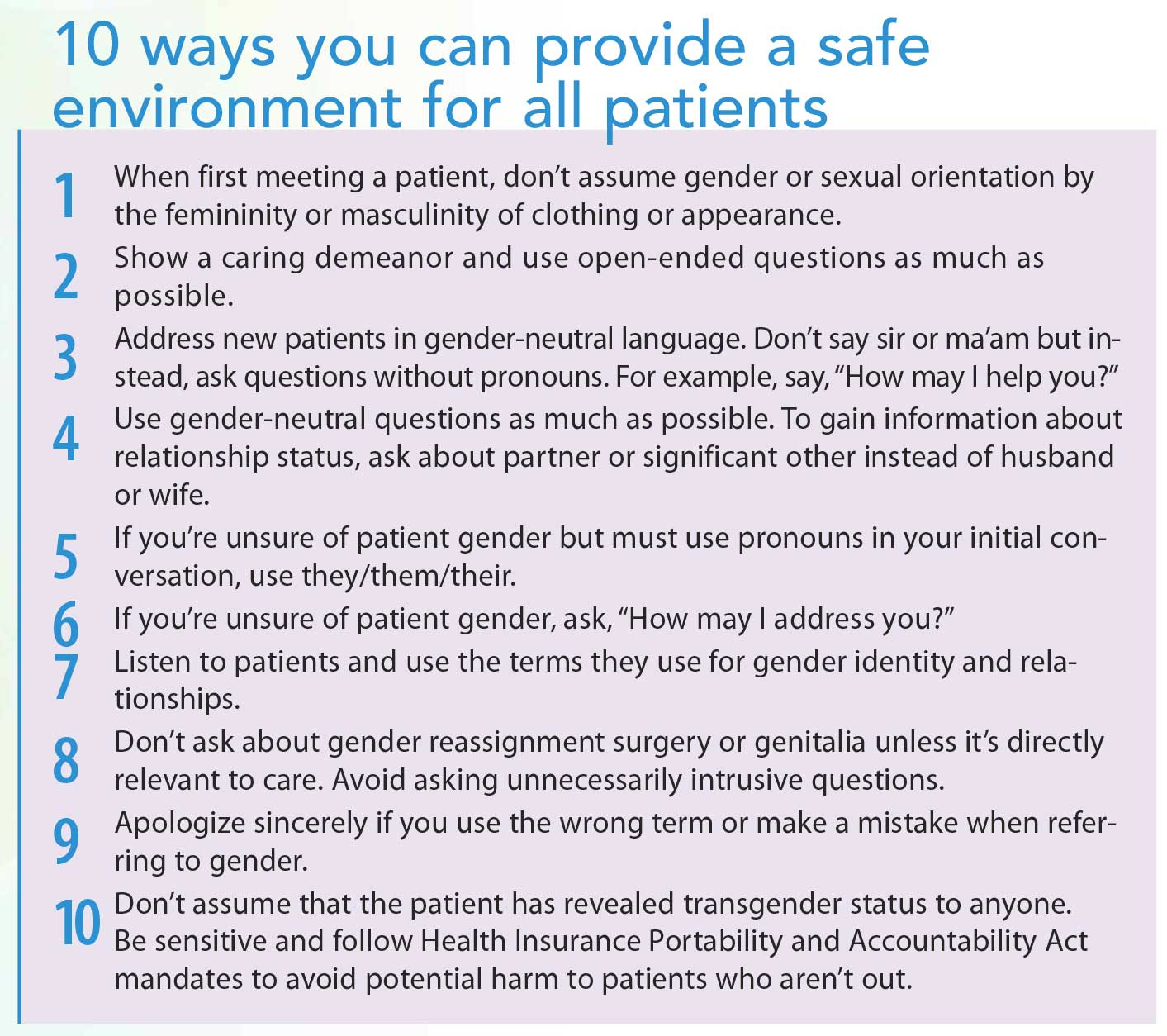 Nursing communication and the gender identity spectrum - American