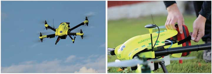 Drone Improve Response Times for Out-Of-Hospital Cardiac Arrests