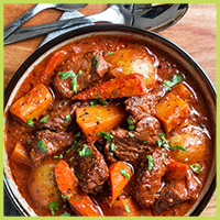 Slow Cooker Beef Stew with Butternut Squash, Carrots, and Potatoes
