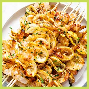 garlic honey lemon shrimp grilled recipe