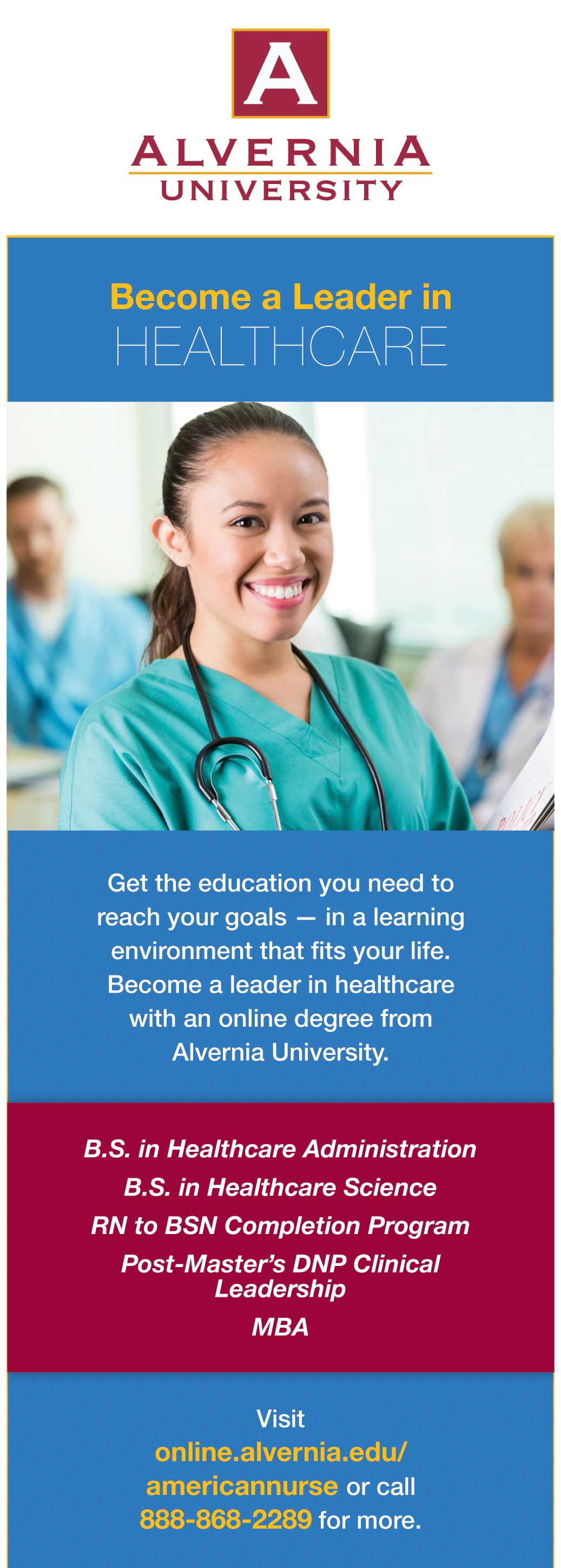 edu alvernia leader healthcare