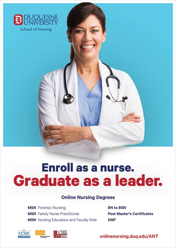 edu duquesne enroll nurse graduate leader