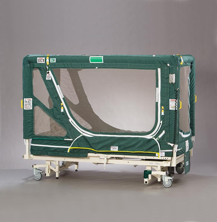 posey enclosure bed calm agitate patient
