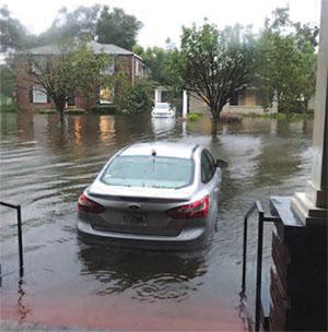 hurricane experience nurse flood car
