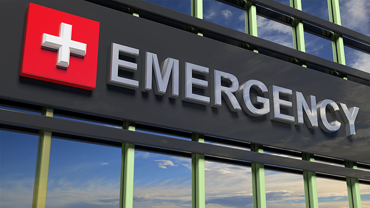 medical care emergency department