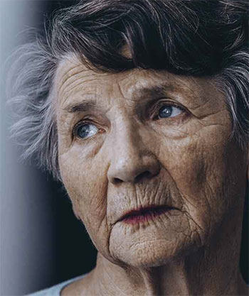 cognitive impairment elderly lady