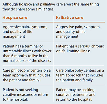 demystifying palliative hospice care side