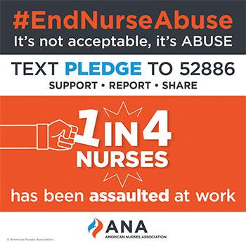 unsafe ground emergency entrance end nurse abuse pledge