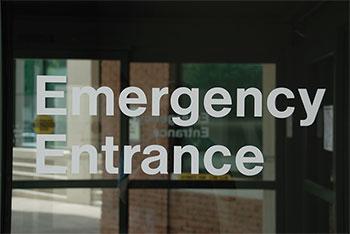 unsafe ground emergency entrance