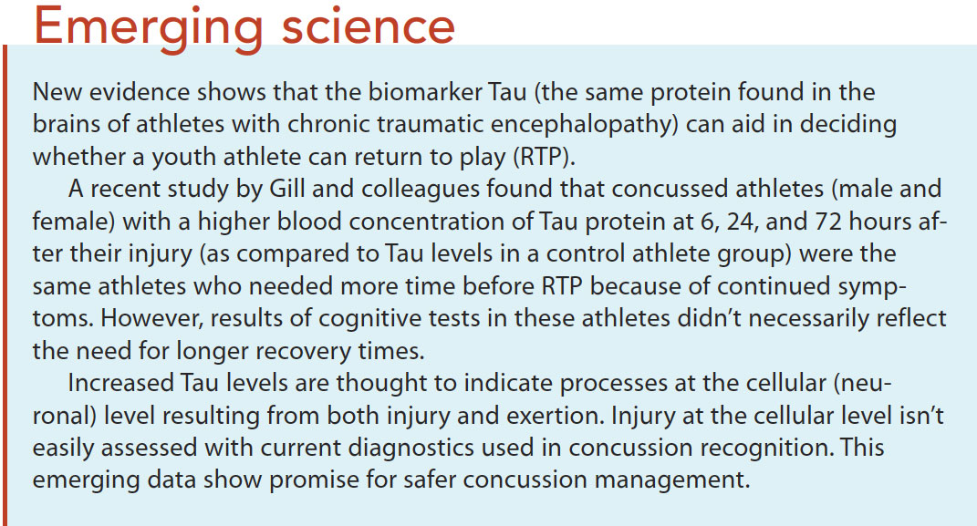 concussions prevention assessment management emerge science