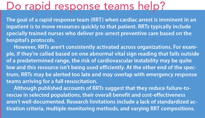 heart stop life give update cardiac arrest rapid response team help