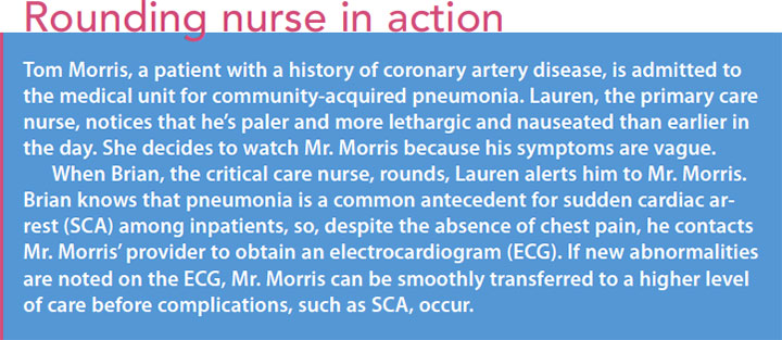 heart stop life give update cardiac arrest round nurse action