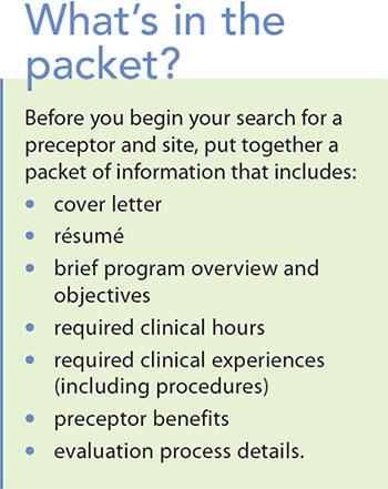 landing clinical practicum preceptor packet