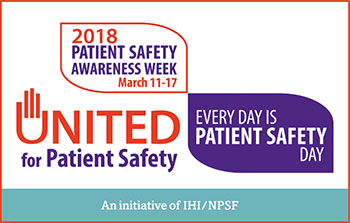 patient safety awareness week ad
