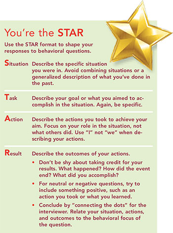 preparing behavioral interview star
