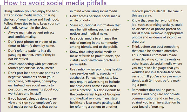 social media nursing license risk avoid pitfalls