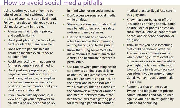social media nursing license risk avoid pitfalls