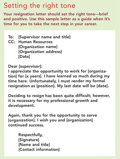 leave job set tone
