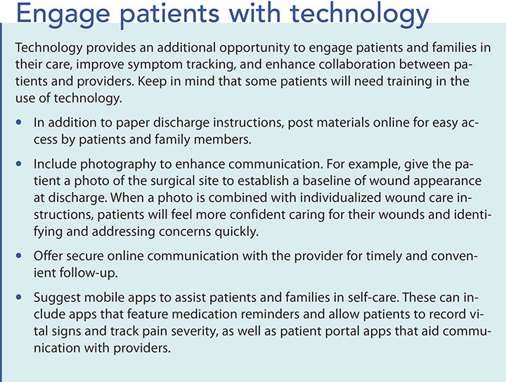 preventing surgical site infection engage patient technology