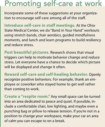 career wellness promote self care work