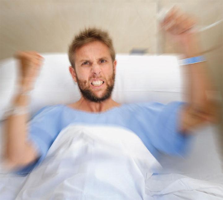 Sedating a violent patient images