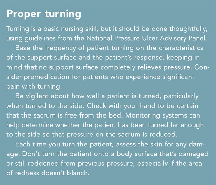 pressure injury med surgical patients turn